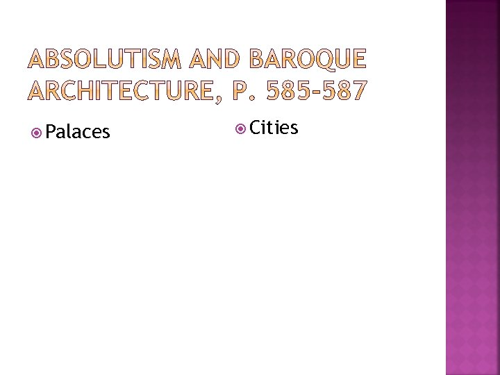 Palaces Cities