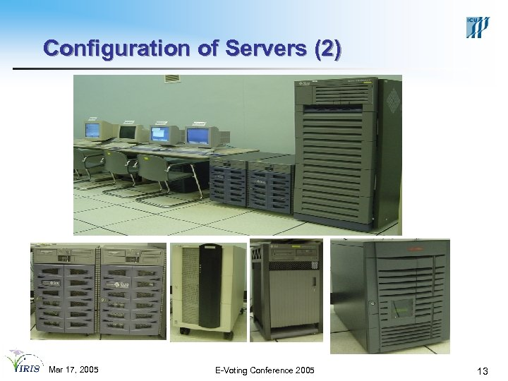 Configuration of Servers (2) Mar 17, 2005 E-Voting Conference 2005 13