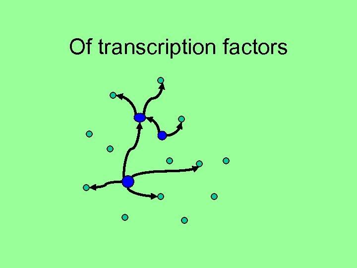 Of transcription factors