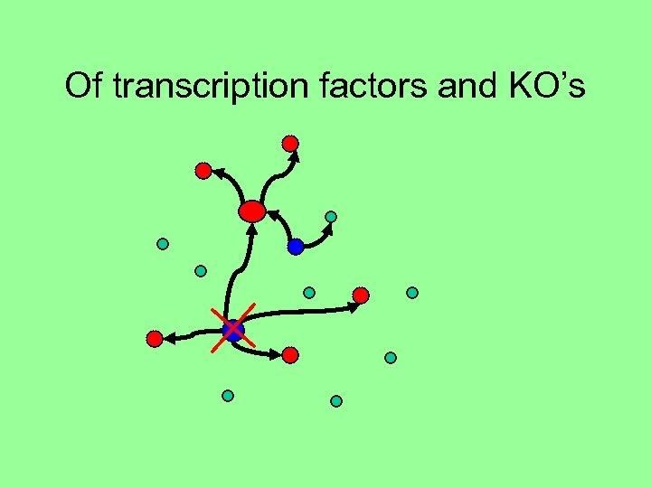 Of transcription factors and KO's
