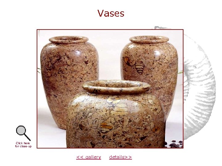 Vases Click here for close-up << gallery details>>