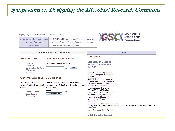 Symposium on Designing the Microbial Research Commons