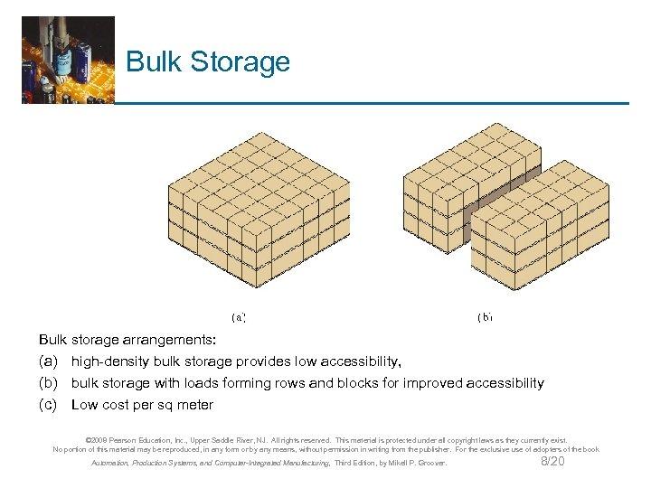 Bulk Storage Bulk storage arrangements: (a) high-density bulk storage provides low accessibility, (b) bulk