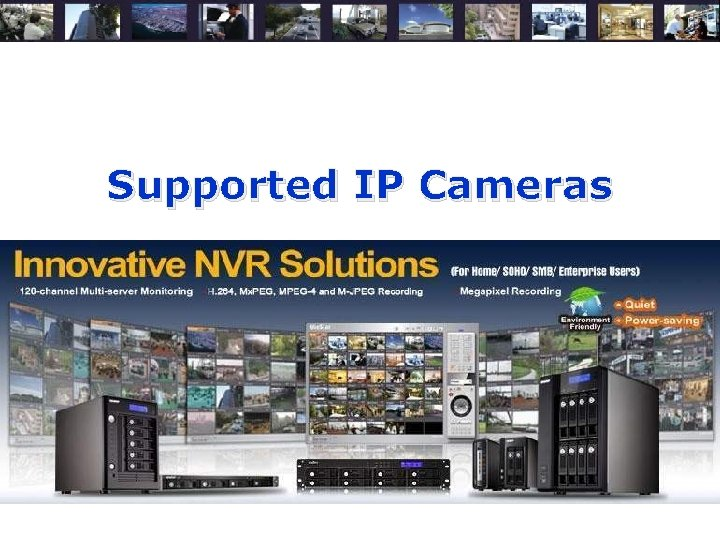 Supported IP Cameras