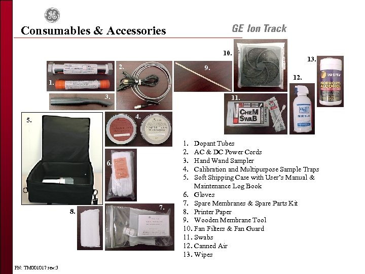 Consumables & Accessories 10. 2. 9. 12. 1. 3. 11. 4. 5. 1. 2.