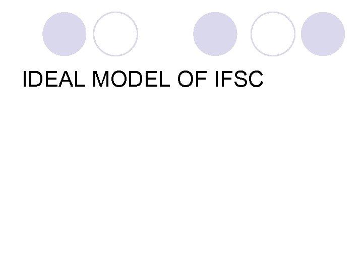 IDEAL MODEL OF IFSC