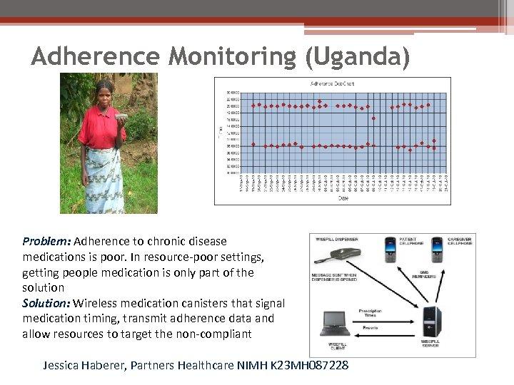 Adherence Monitoring (Uganda) Problem: Adherence to chronic disease medications is poor. In resource-poor settings,