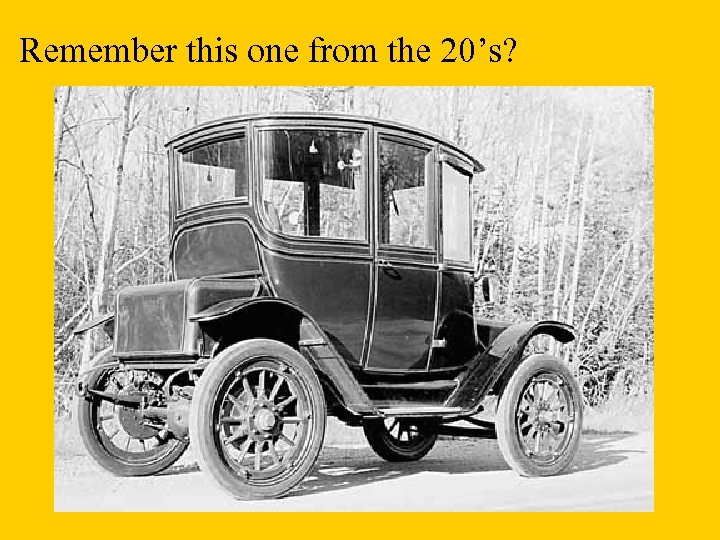 Remember this one from the 20's?
