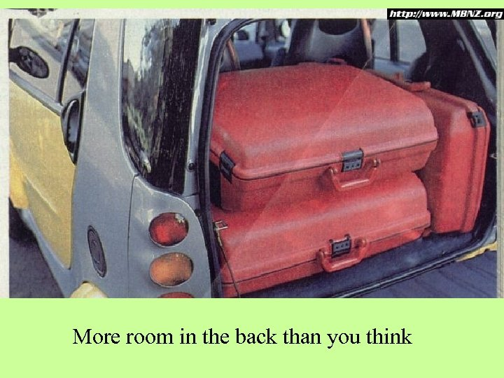 More room in the back than you think