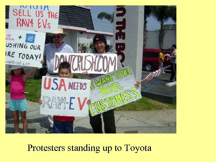 Protesters standing up to Toyota