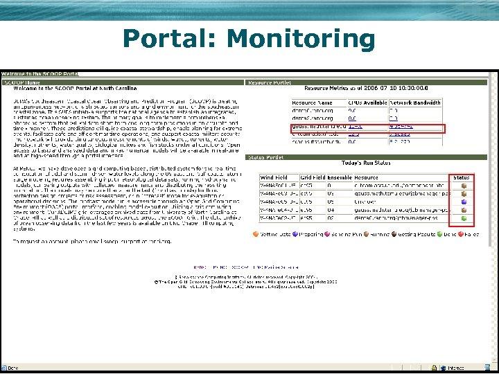 Portal: Monitoring
