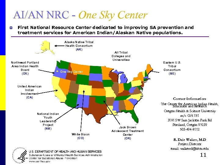 AI/AN NRC - One Sky Center p First National Resource Center dedicated to improving