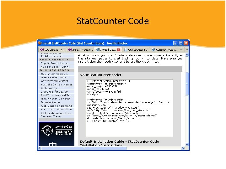 Stat. Counter Code