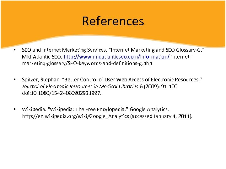 References • SEO and Internet Marketing Services.