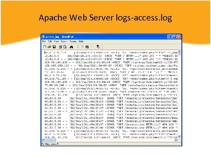 Apache Web Server logs-access. log