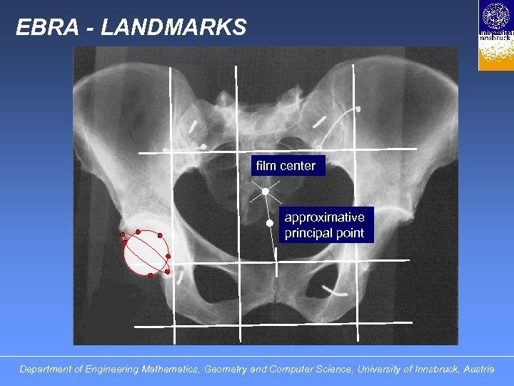 EBRA - LANDMARKS film center approximative principal point Department of Engineering Mathematics, Geometry and