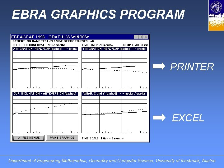 EBRA GRAPHICS PROGRAM PRINTER EXCEL Department of Engineering Mathematics, Geometry and Computer Science, University