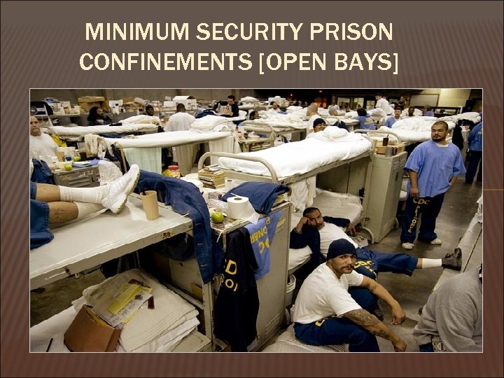 MINIMUM SECURITY PRISON CONFINEMENTS [OPEN BAYS]