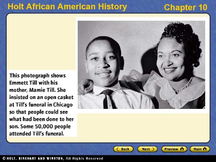 Holt African American History Chapter 10