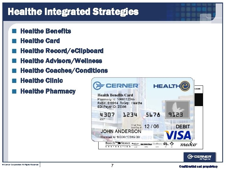 Healthe Integrated Strategies Healthe Benefits Healthe Card Healthe Record/e. Clipboard Healthe Advisors/Wellness Healthe Coaches/Conditions
