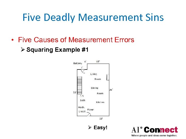 Five Deadly Measurement Sins • Five Causes of Measurement Errors Ø Squaring Example #1