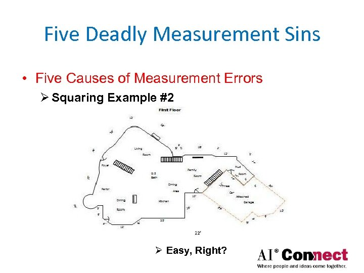 Five Deadly Measurement Sins • Five Causes of Measurement Errors Ø Squaring Example #2