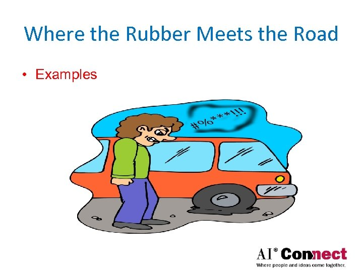 Where the Rubber Meets the Road • Examples