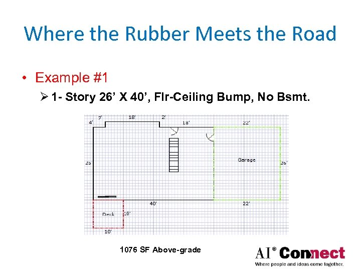 Where the Rubber Meets the Road • Example #1 Ø 1 - Story 26'