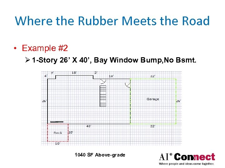 Where the Rubber Meets the Road • Example #2 Ø 1 -Story 26' X