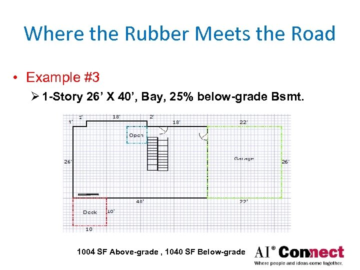 Where the Rubber Meets the Road • Example #3 Ø 1 -Story 26' X