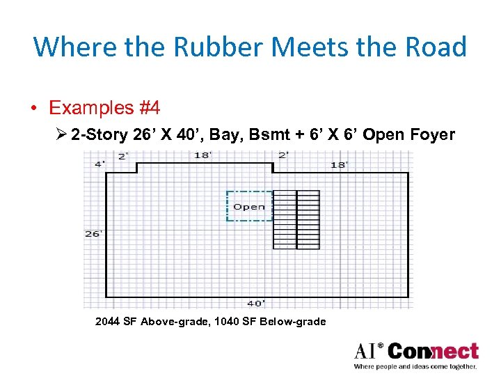 Where the Rubber Meets the Road • Examples #4 Ø 2 -Story 26' X