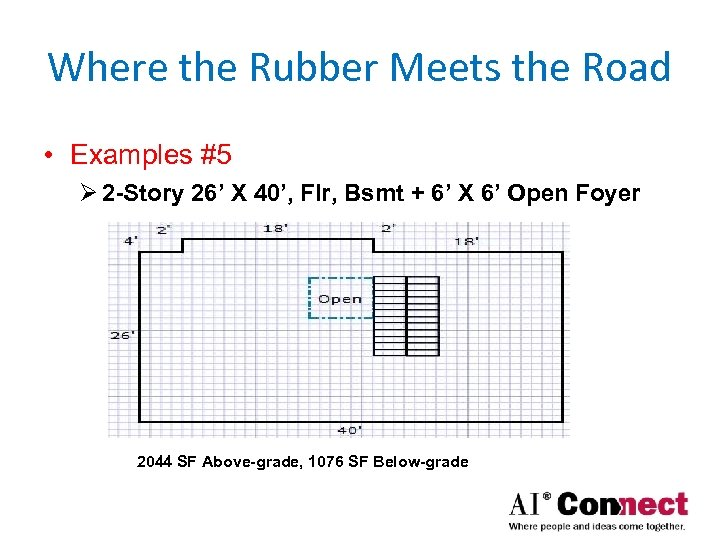 Where the Rubber Meets the Road • Examples #5 Ø 2 -Story 26' X