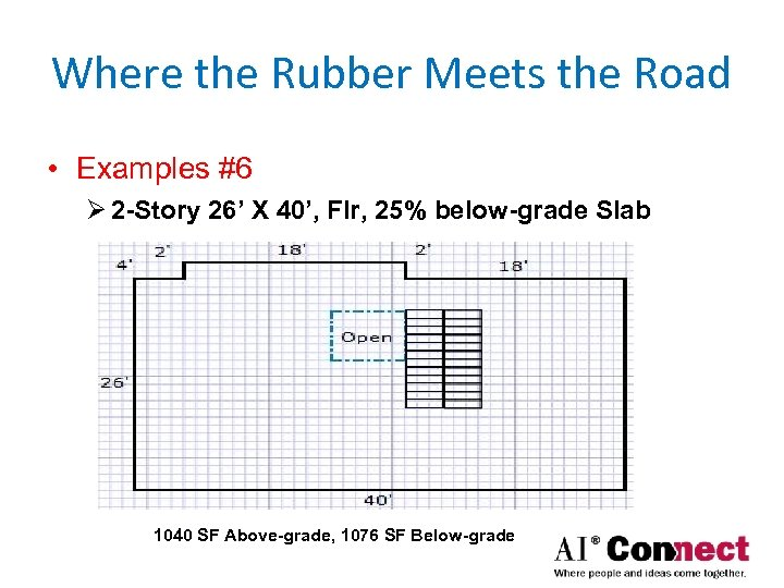 Where the Rubber Meets the Road • Examples #6 Ø 2 -Story 26' X