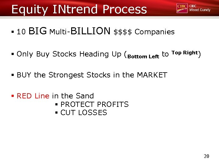 Equity INtrend Process § 10 BIG Multi-BILLION $$$$ Companies § Only Buy Stocks Heading
