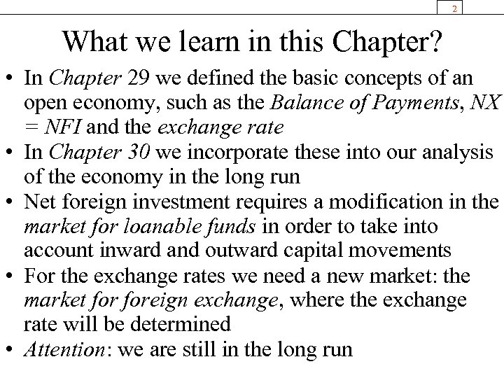 2 What we learn in this Chapter? • In Chapter 29 we defined the