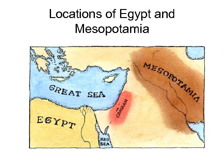 Locations of Egypt and Mesopotamia