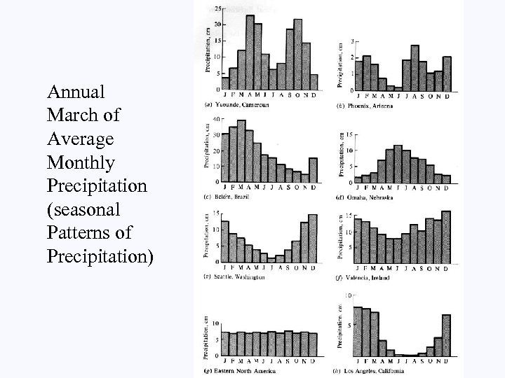 Annual March of Average Monthly Precipitation (seasonal Patterns of Precipitation)