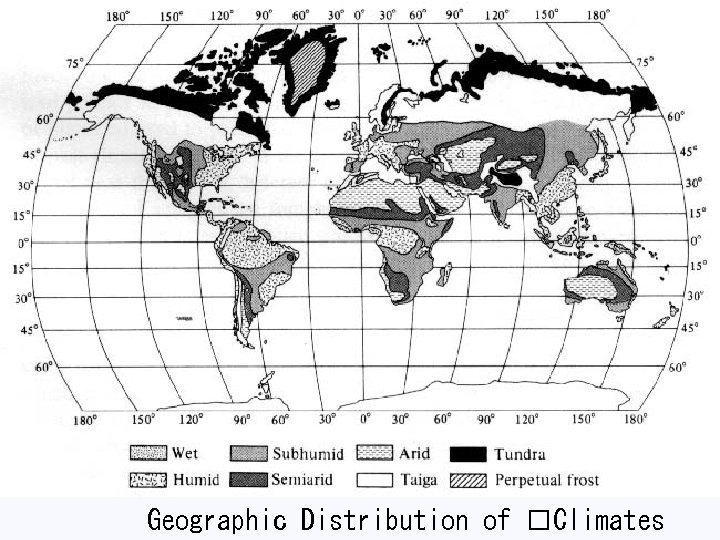 Geographic Distribution of Climates