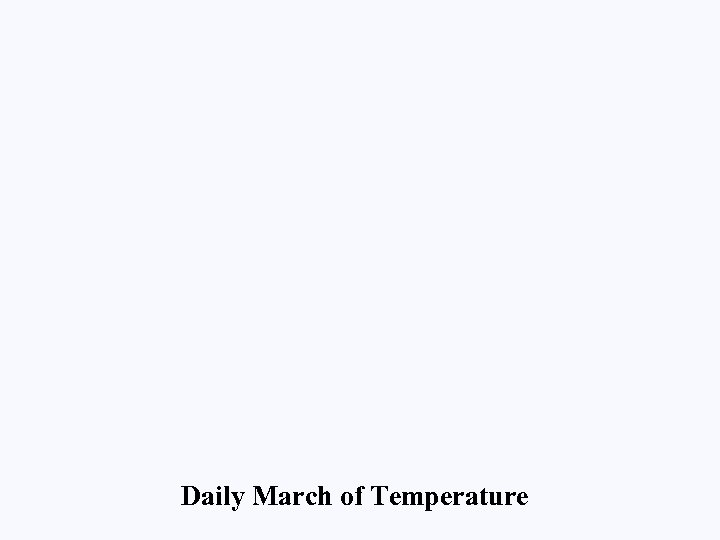 Daily March of Temperature