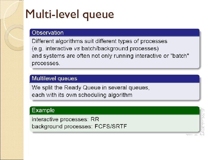 Multi-level queue