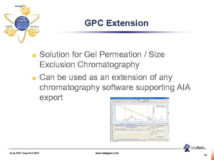 GPC Extension Solution for Gel Permeation / Size Exclusion Chromatography Can be used as