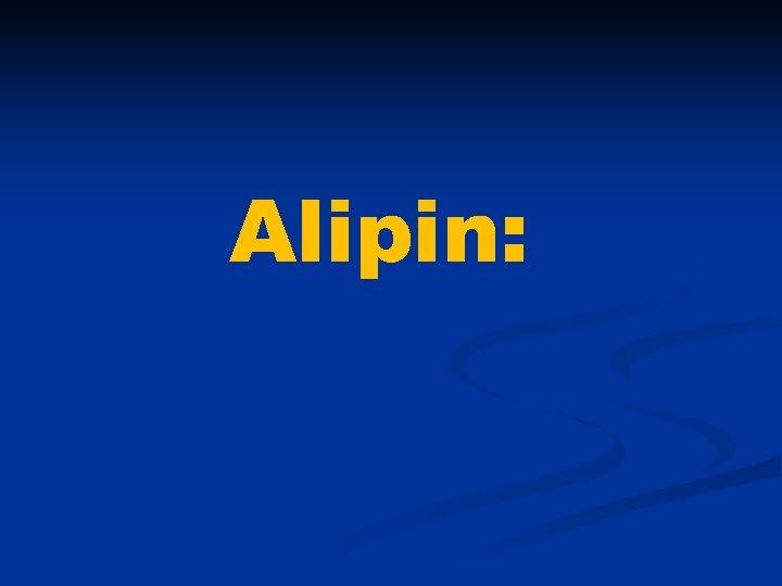 Alipin: