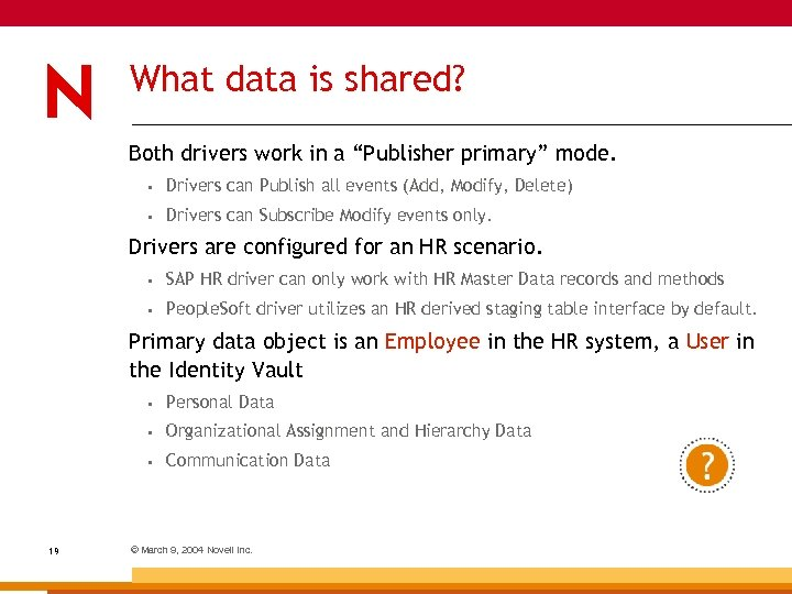 "What data is shared? Both drivers work in a ""Publisher primary"" mode. • Drivers"