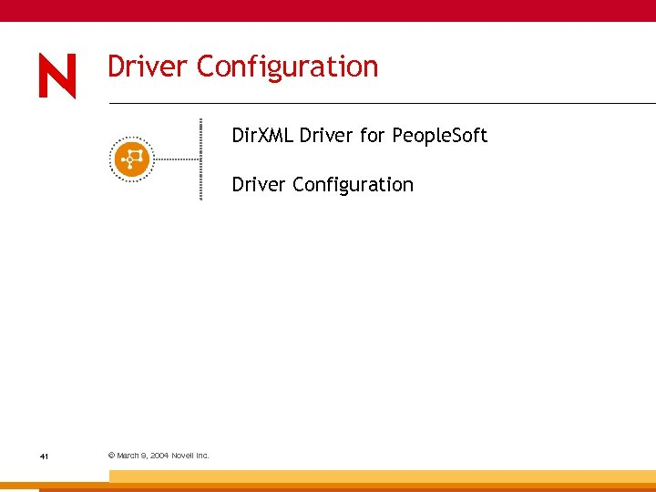 Driver Configuration Dir. XML Driver for People. Soft Driver Configuration 41 © March 9,