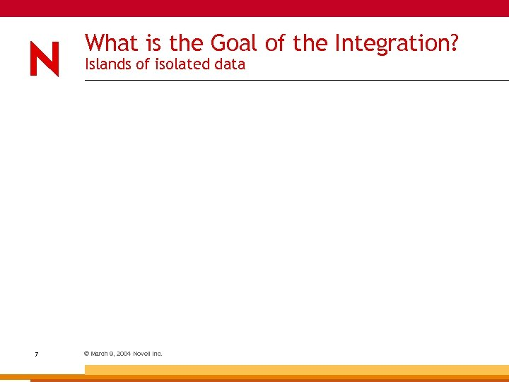 What is the Goal of the Integration? Islands of isolated data 7 © March