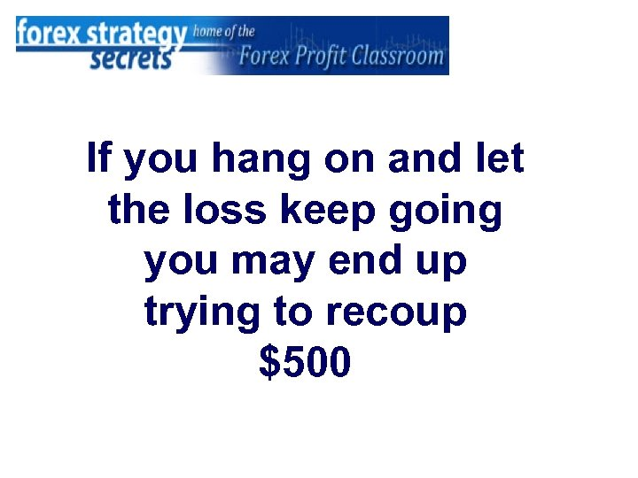 If you hang on and let the loss keep going you may end up