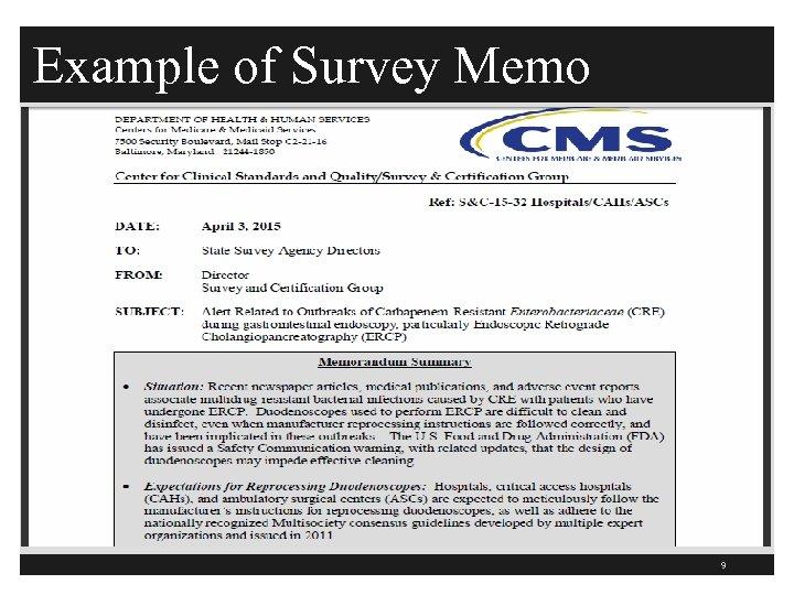 Example of Survey Memo 9