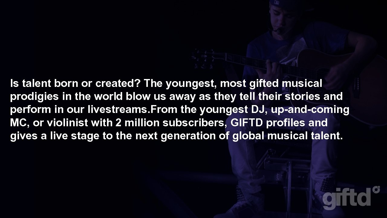 Is talent born or created? The youngest, most gifted musical prodigies in the world
