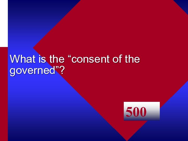 """What is the """"consent of the governed""""? 500"""