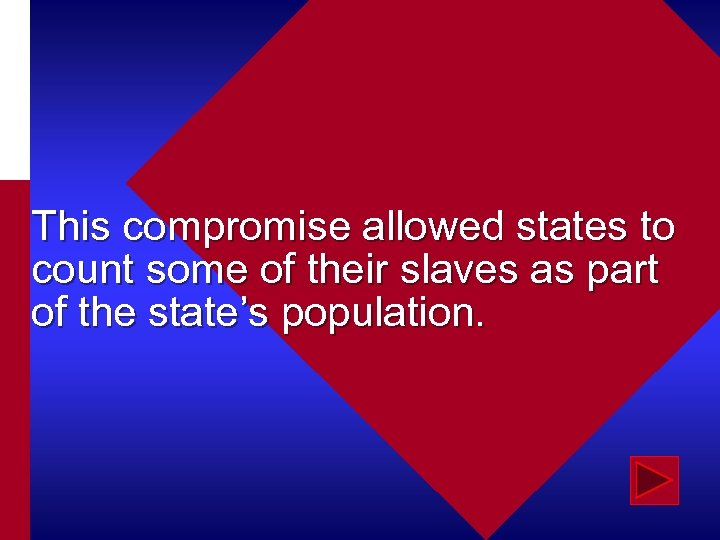 This compromise allowed states to count some of their slaves as part of the